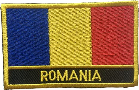ROMANIA Romanian Country Flag Embroidered PATCH Badge *NEW*