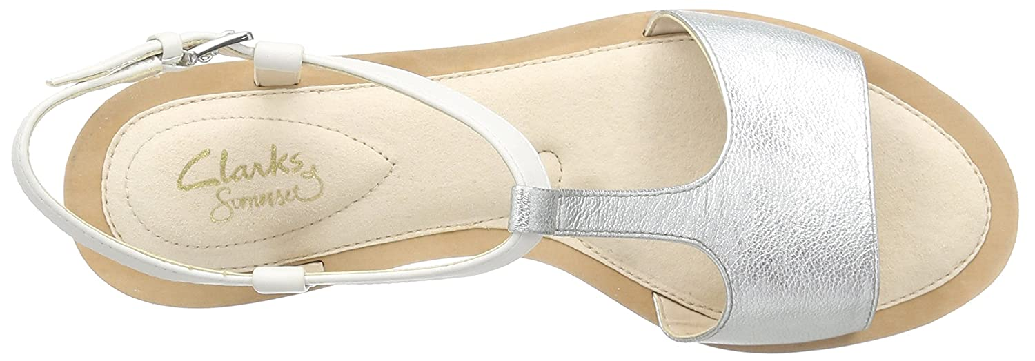 8b7866b4b0bb8 Clarks Women s Sandcastle Ice Le White Fashion Sandals - 9 UK India (43  EU)  Buy Online at Low Prices in India - Amazon.in