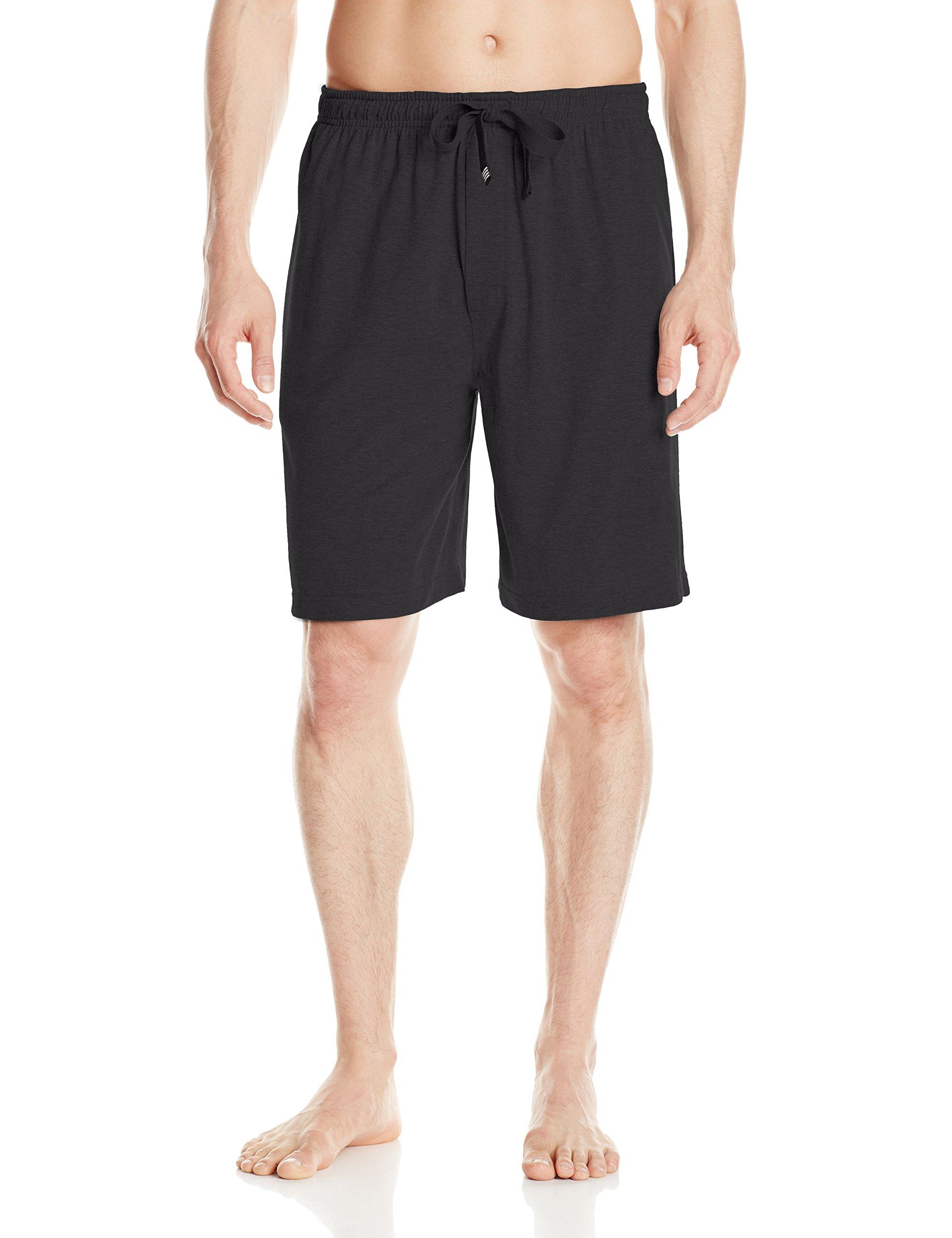 Geoffrey Beene Men's Jersey Knit Lounge Short, Black, Large