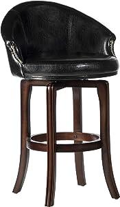 Hillsdale Dartford Swivel Bar Height Stool, Barstool, Dark Brown Cherry