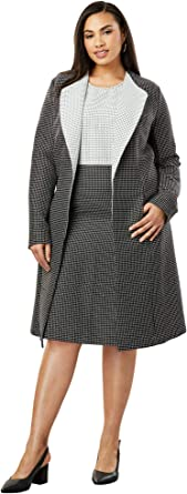 Jessica London Womens Plus Size Collarless Topper