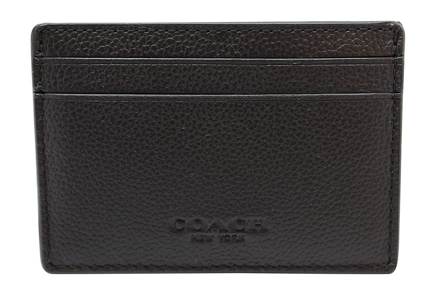 9aa6f61f68 Coach Mens Money Clip Card Case in sport calf leather F75459 Black