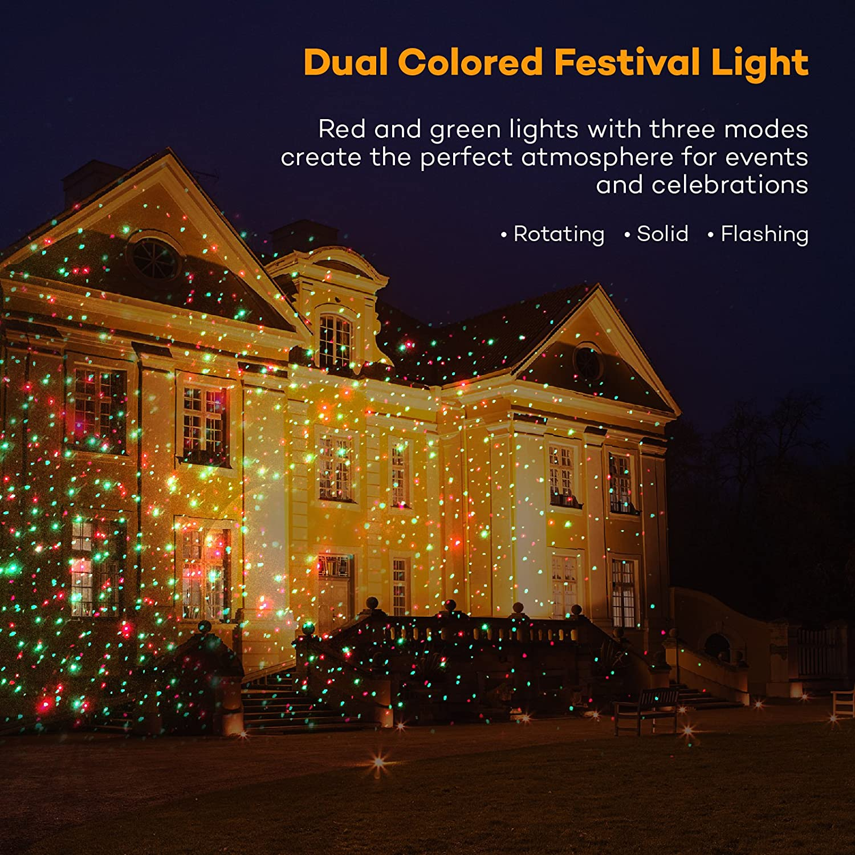 Amazon.com: Laser Christmas Lights, TaoTronics Outdoor Light ...