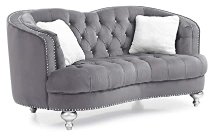 Enjoyable Amazon Com Glory Furniture Jewel G755 L Loveseat Gray Pabps2019 Chair Design Images Pabps2019Com