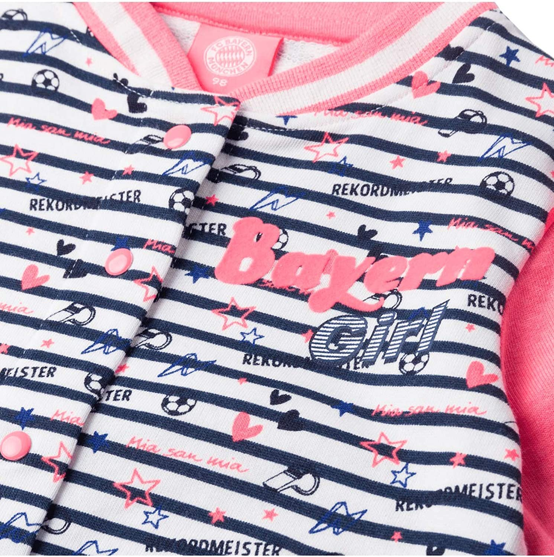 FC Bayern M/ünchen Sweatshirt Bayern Girl Baby wei/ß//rosa