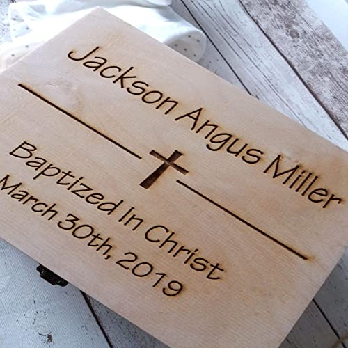 Personalised Keepsake Gift Wooden Memory Keepsake Box Gift Name Baby
