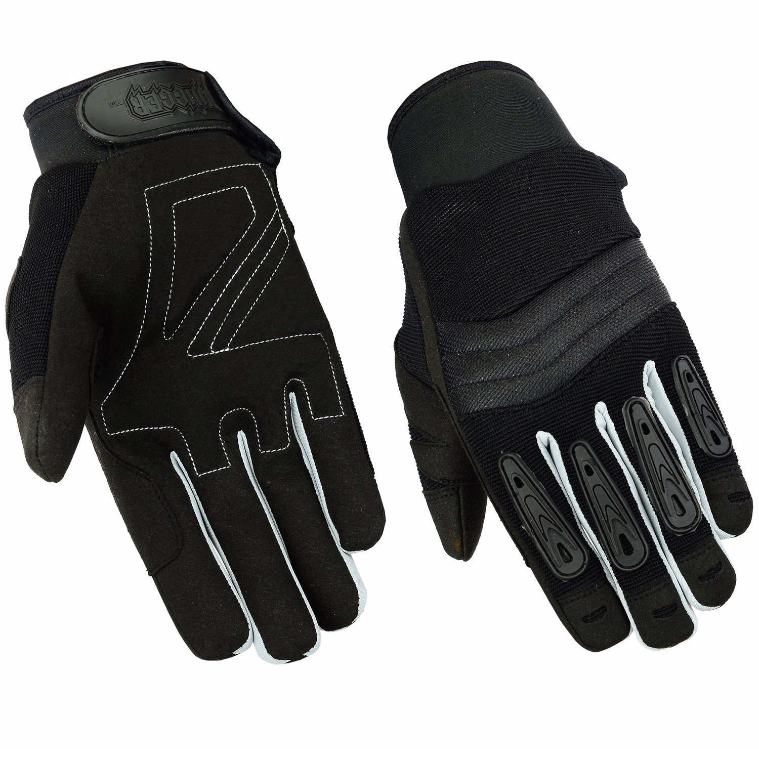 Mens Air Cooled No Sweat Knit Extreme Comfort Riding Glove (X-Large, Black/Grey)