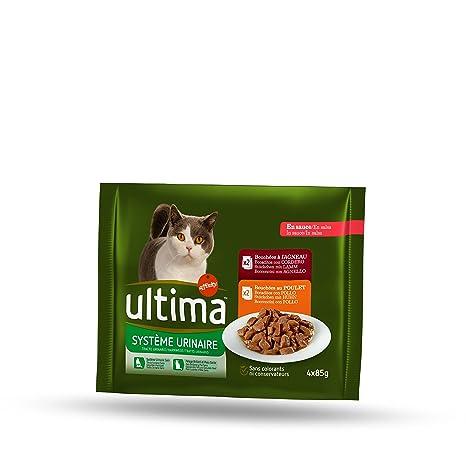 Ultima Comida Húmeda para Gato para Prevenir Problemas del Tracto Urinario - Paquete de 10 bolsas