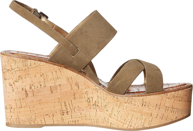 9eb3fb061cc989 Sam Edelman Women s Destiny Moss Green Kid Suede Leather Wedge   Amazon.co.uk  Shoes   Bags