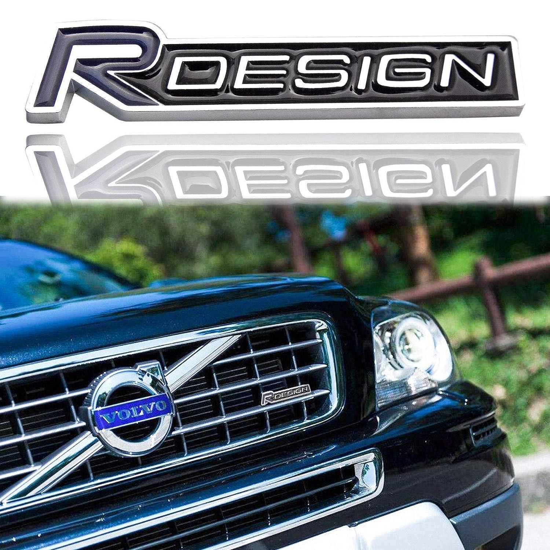 Amazon com black r design logo badge metal chrome emblem tail fender lid trunk sticker decal for volvo automotive