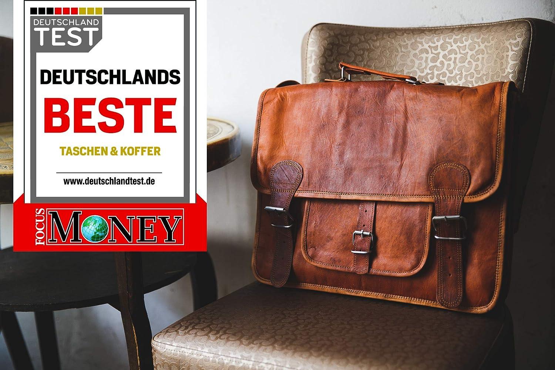 a1b2329ad040a Umhängetasche Leder Gusti Leon Aktentasche Laptoptasche Braun  Amazon.de   Koffer