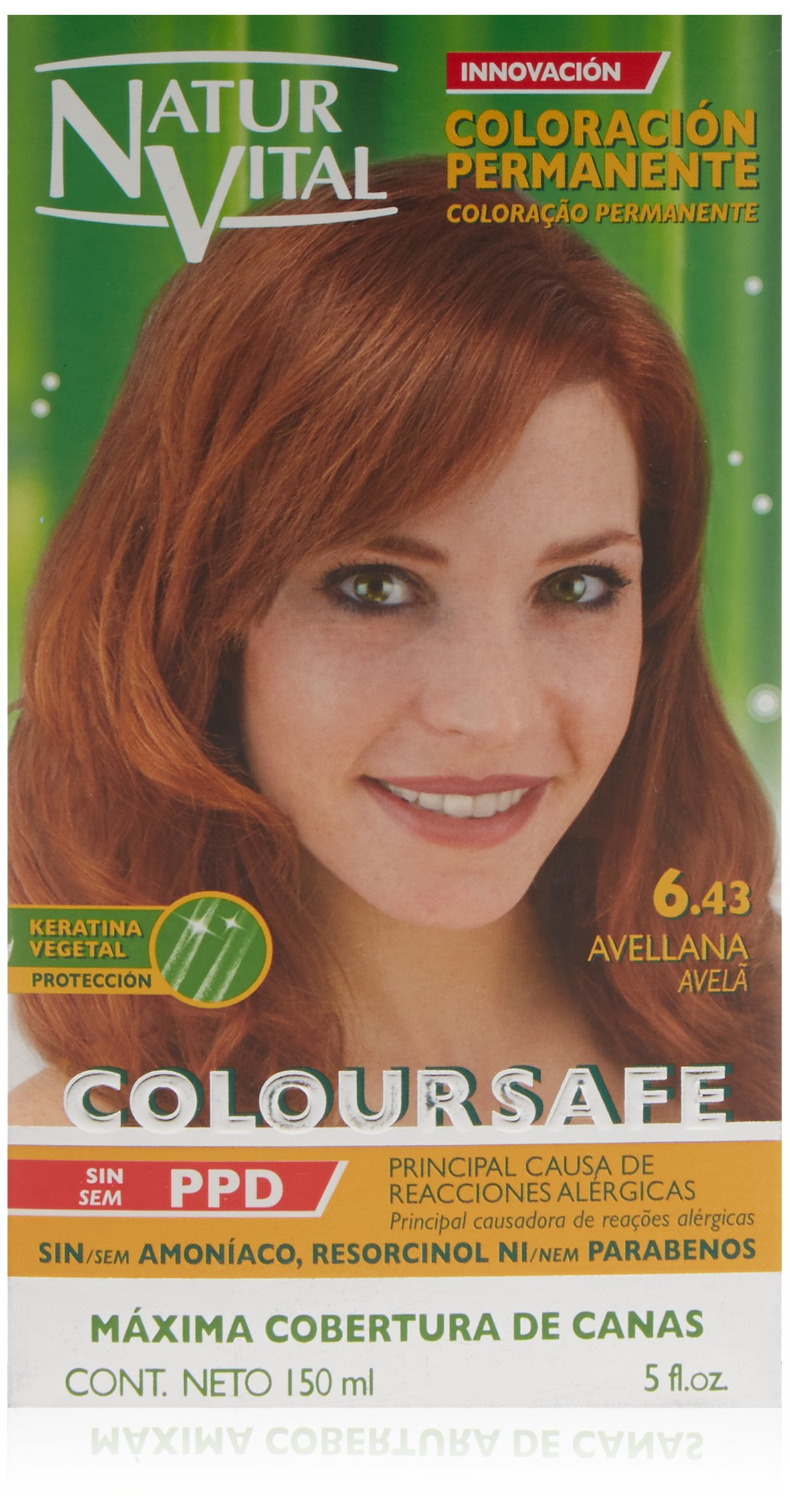 Amazon.com : Permanent Hair Dye, Permanent Hair Color. Coloursafe, No Ammonia, Resorcinol or Parabens (~6.4 hazelnut) : Chemical Hair Dyes : Beauty