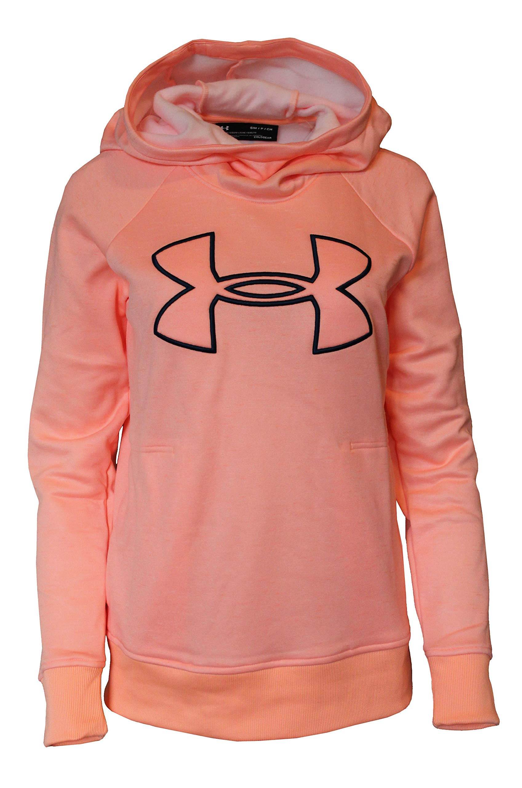 Under Armour Women's Hoodie Active Big Logo Pullover 1318396 (Peach Horizon, S) by Under Armour