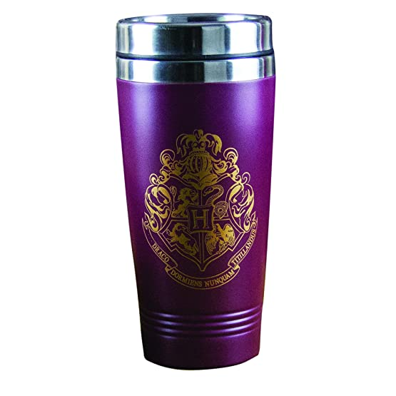 Harry Potter, tazza da viaggio con stemma di Hogwarts, multicolore