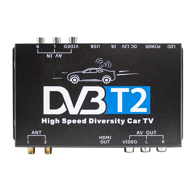 Xomax Dvb T2 Receiver Für Auto Kfz H265 Hevc Tv Amazonde