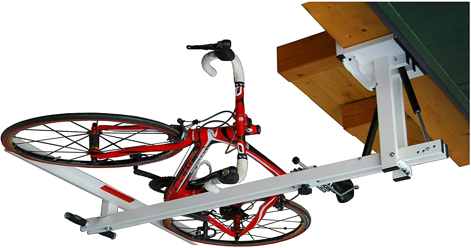 flat-bike-lift – The new overhead rack to store the bikes flat to the garage ceiling