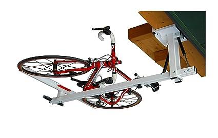 flat bike lift the new overhead rack to store the bikes flat to - Garage Bike Rack