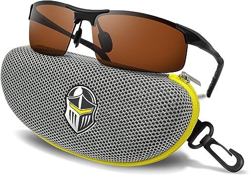 Gun Gray Daytime Night Glasses Polarized UV400 Driving Sport Anti-Glare Sunglass