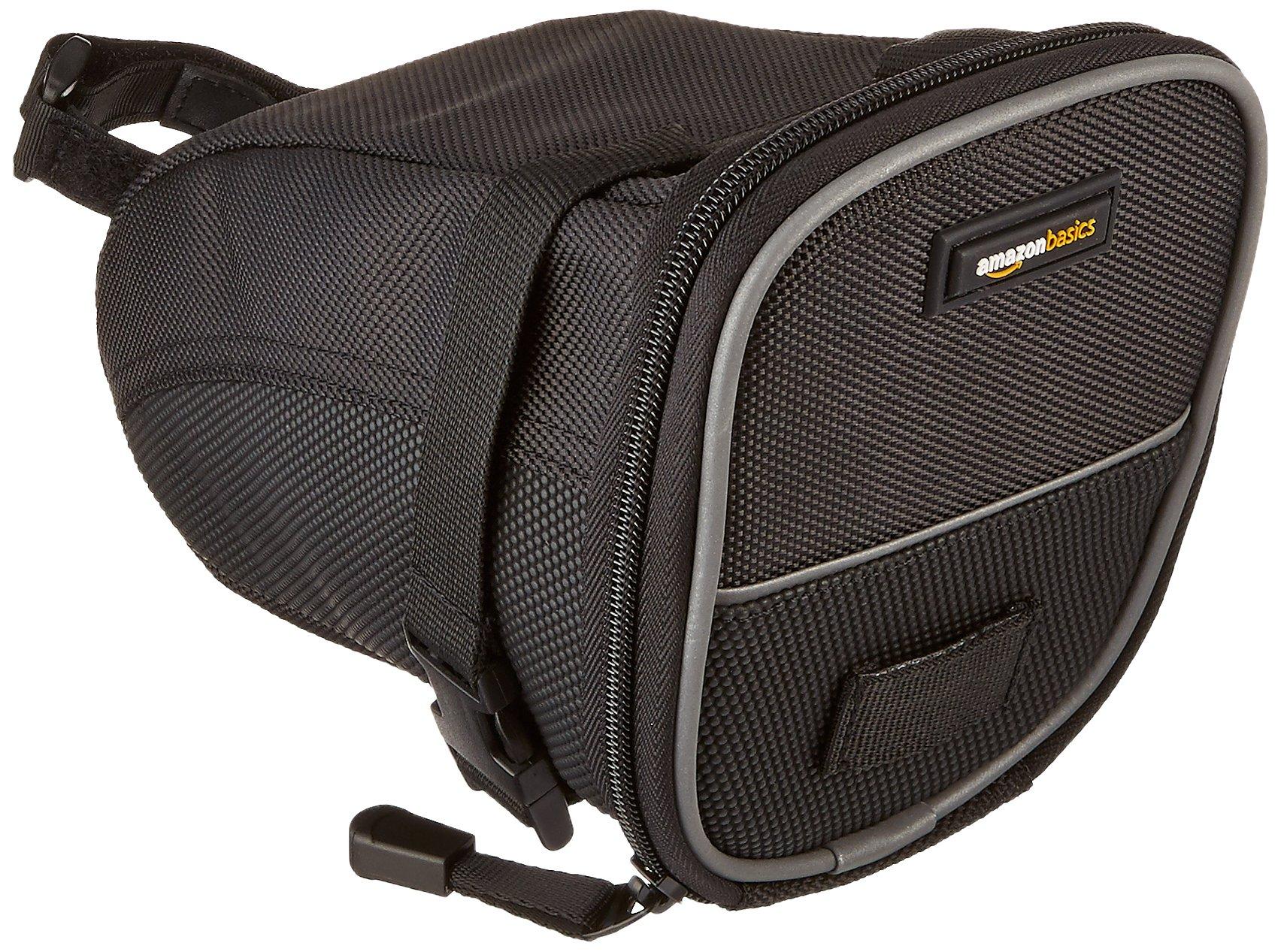 AmazonBasics - Bolsa de sillín en forma de cuña con correa