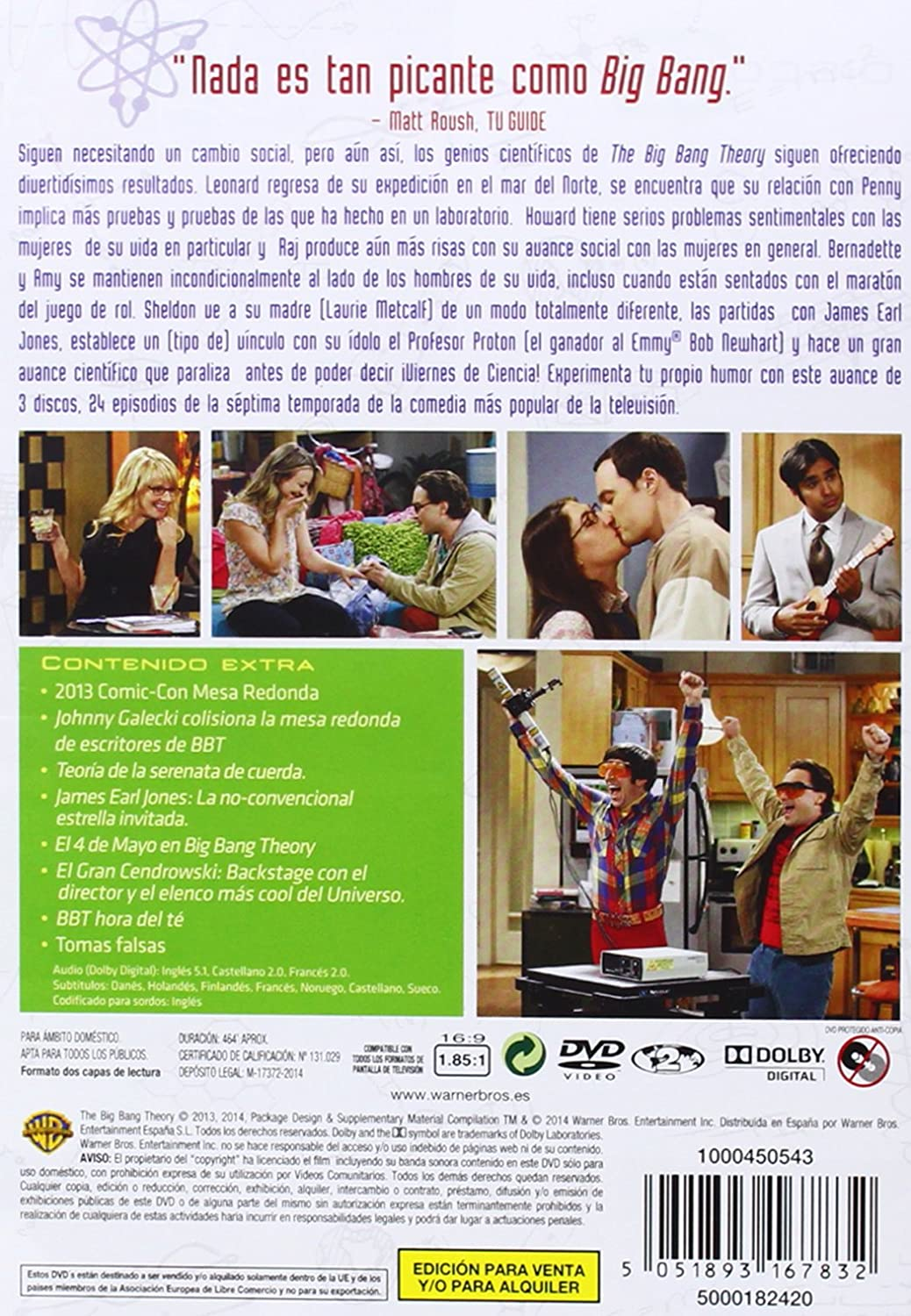 The Big Bang Theory - Temporada 7 [DVD]: Amazon.es: Johnny ...