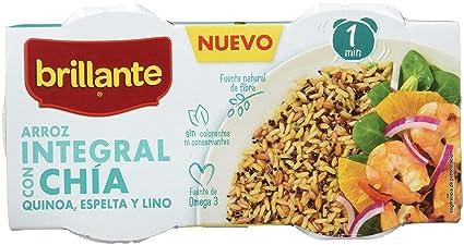 Brillante Arroz Integral Con Chía, Quinoa, Espelta Y Lino 125G X 3 - [Pack De 8] - Total 2 Kg: Amazon.es: Alimentación y bebidas