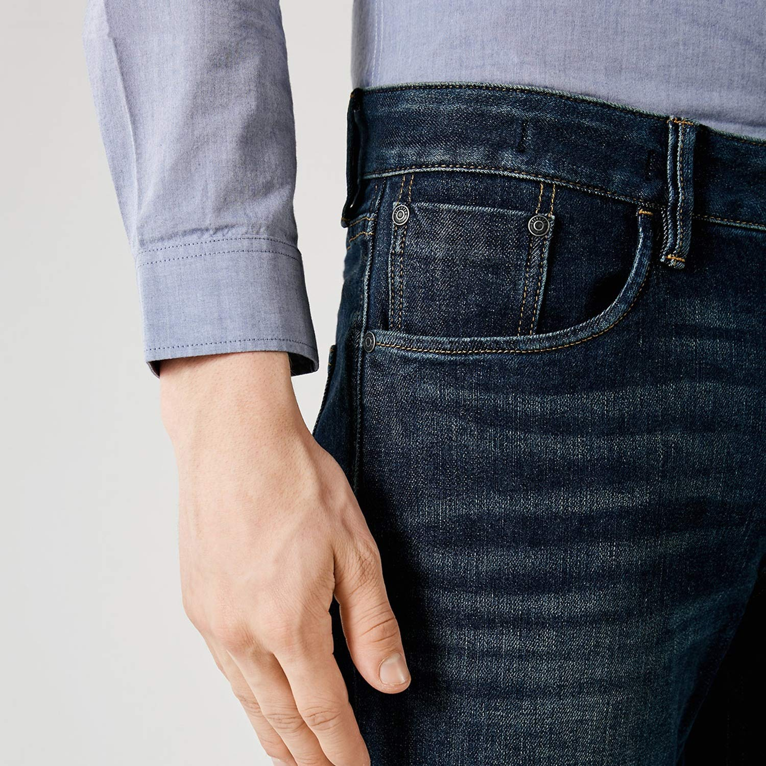Mens /& Winter Lycra Slight Stretch Vintage Slim Fit Jeans S|418332532,Dark Blue Denim,28,Licking