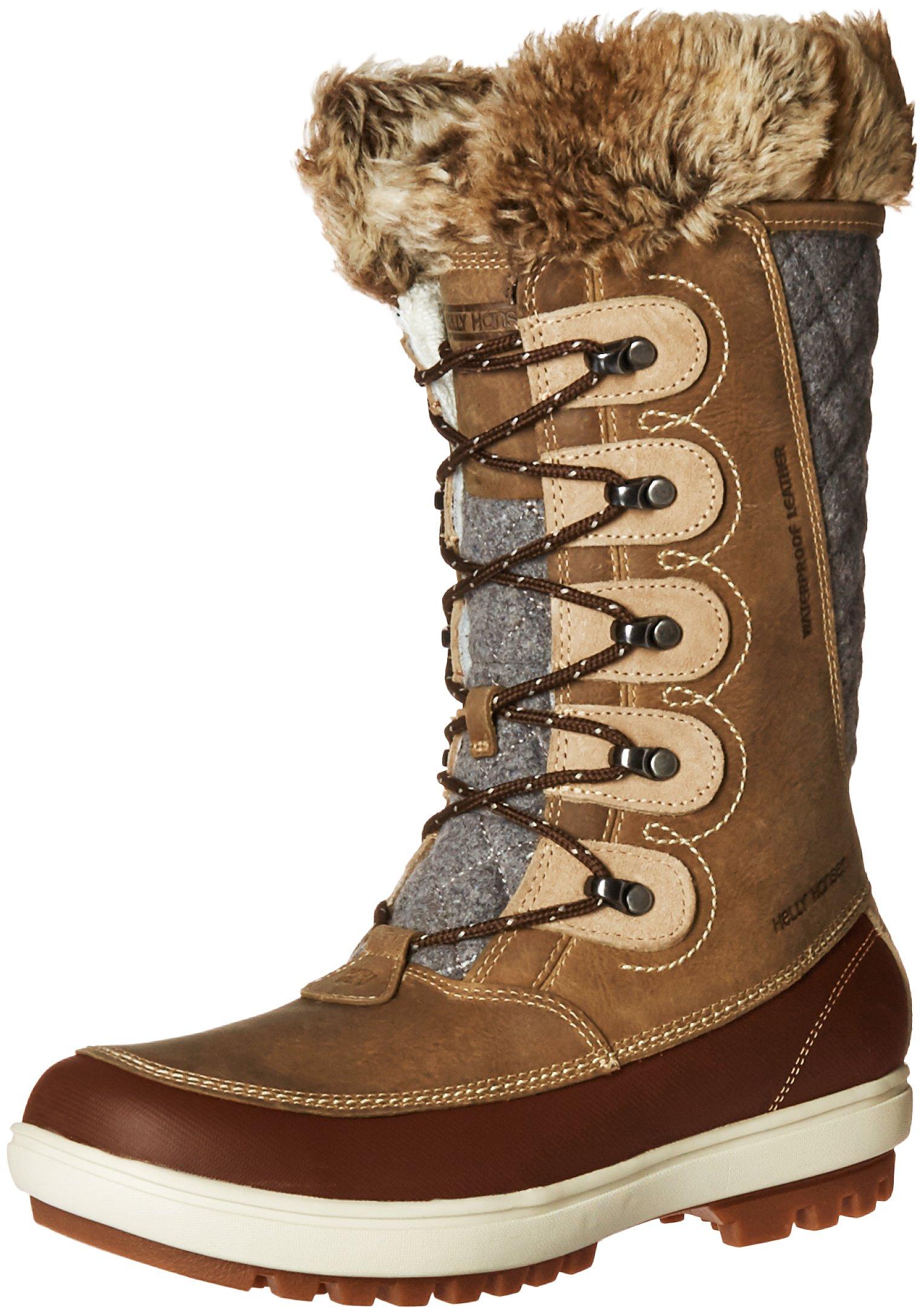 Helly Hansen Women's W Garibaldi VL-W Cold Weather Boot, Camel/Coffee Bean/Bungee Cord/Natural/Khaki/Angora/Sperry Gum, 9.5 M US