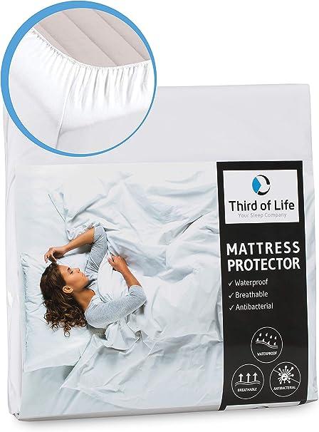 Amazon De Matratzenschoner 100x200 Cm Wasserdicht Atmungsaktive Matratzen Auflage Anti Milben