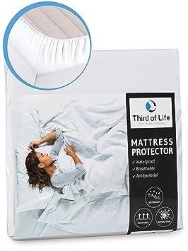 Third of Life Protector de Colchón Impermeable y Transpirable | Funda Hipoalergénica | Protección Óptima |Antiácaros, Antibacteriano y Antimoho | Cubre ...