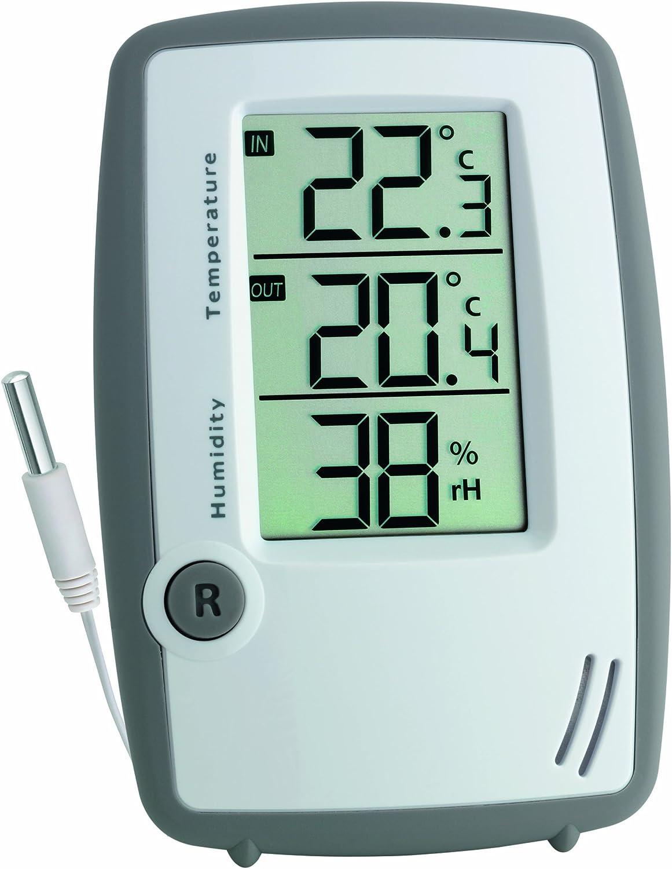 Digital Thermometer Hygrometer Mit Fernfühler Min Max Innen Außen Für Terrarium