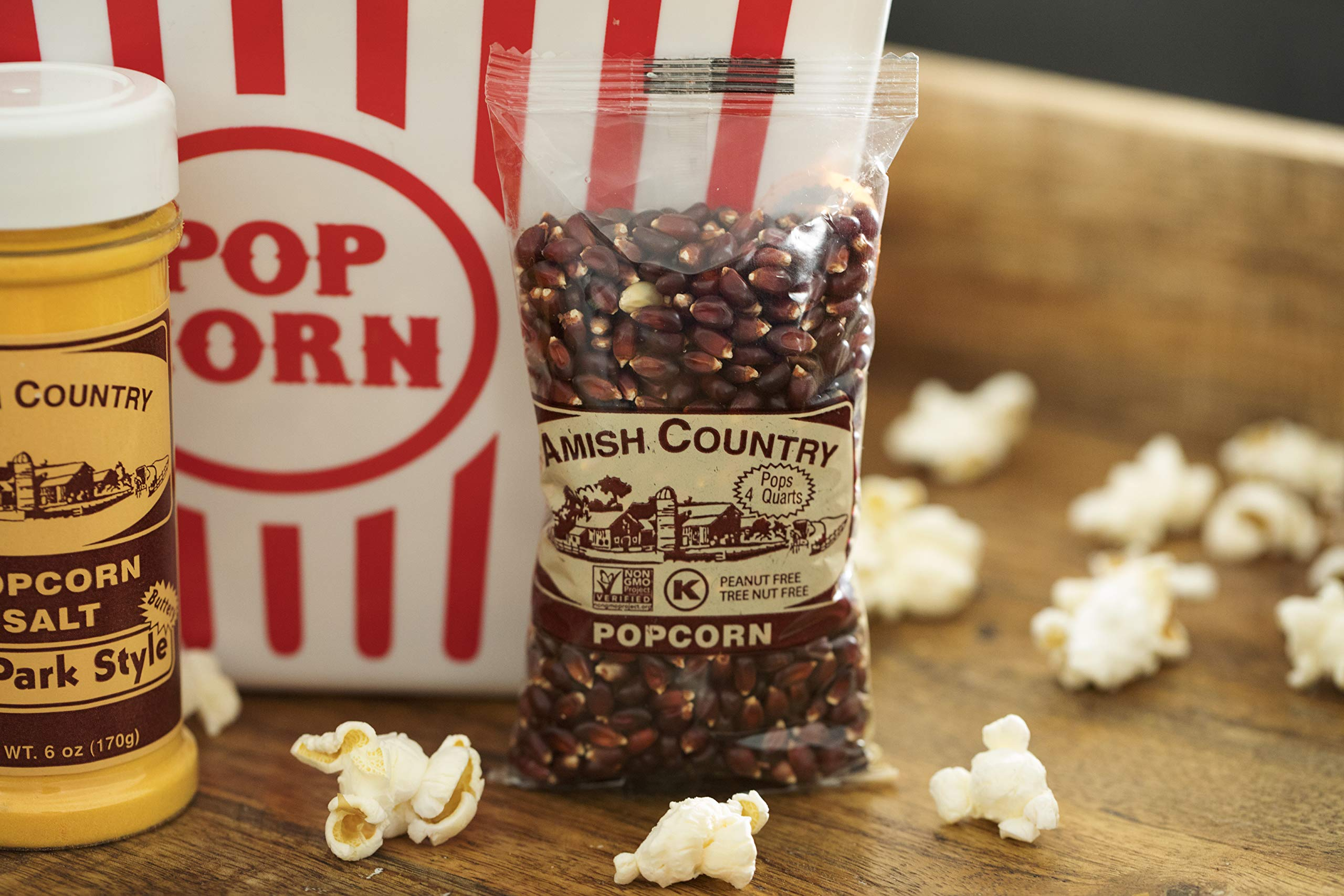 Amish Country Popcorn - Red Popcorn (4 Ounce - 24 Pack) - Old Fashioned, Non GMO, and Gluten Free - with Recipe Guide by Amish Country Popcorn (Image #4)