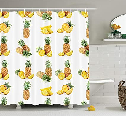 Whhopily Pineapple Decor Collection Whole Half And Pisces Of Picture Against Clear Background Image