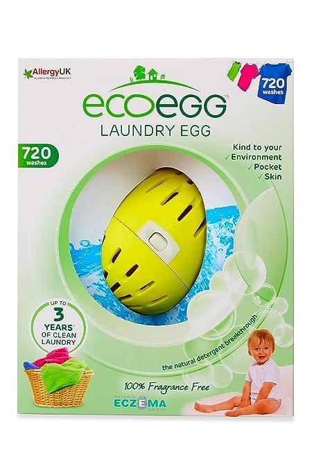 Ecoegg - Detergente ecolgico en perlas para lavar la ropa (hasta 720 lavados, sin