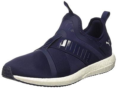 4994f96cacdd94 Puma Unisex s Mega Nrgy X Peacoat and White Running Shoes-6.5 UK India (