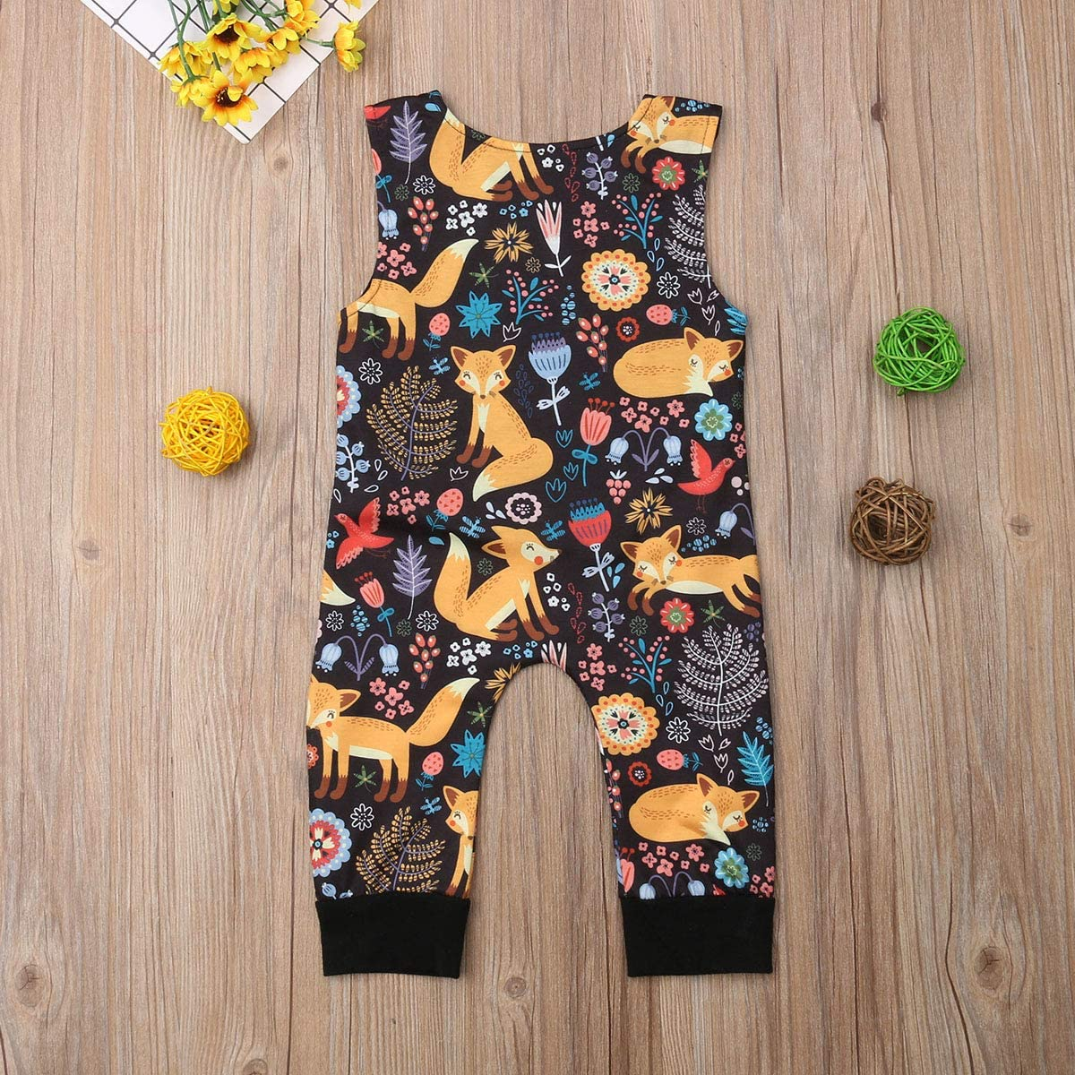 CIPOGL S/äugling Baby M/ädchen Jungen Langarm Giraffen Druck Denim Strampler Overall Body Jeans Hosen Outfits