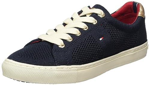 Tommy Hilfiger V1285ALI 2C, Sneakers Basses Femme Bleu