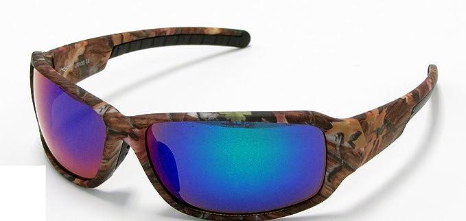 Vertx Camouflage Sonnenbrille Braun Orange Weiß Camo Angeln Jagd Outdoor, Blau, 56305brn-blu