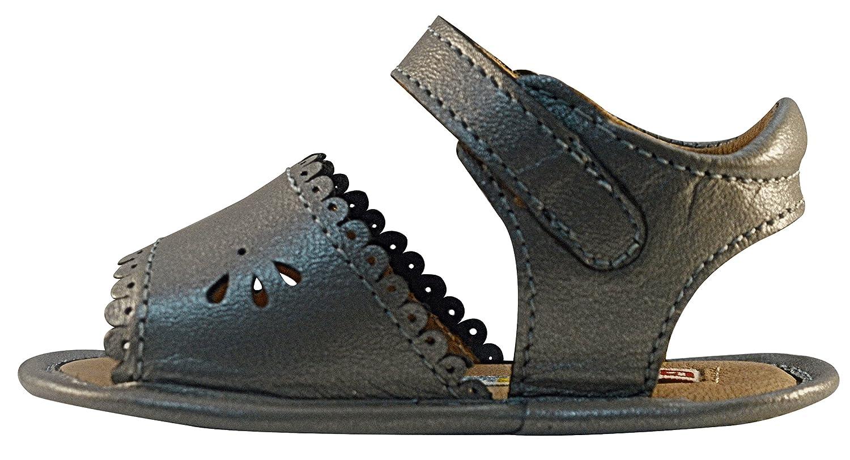 Bobblekids Baby Girls Silver Sandal Leather Shoes Milette