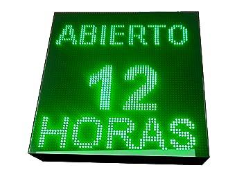 CARTEL LED PROGRAMABLE LETRERO LED PROGRAMABLE PANTALLA LED PROGRAMABLE (64 * 64 cm, VERDE) ROTULO LED PROGRAMABLE CARTEL ELECTRÓNICO ANUNCIA TU ...