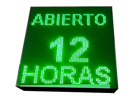 CARTEL LED PROGRAMABLE LETRERO LED PROGRAMABLE PANTALLA LED PROGRAMABLE (64 * 64 cm, VERDE) ROTULO LED PROGRAMABLE CARTEL ELECTRÓNICO ANUNCIA TU ...