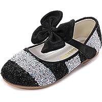 YOSICIL Zapatos de Tacon con Arco para Niñas Zapatillas de Lentejuelas Zapatos de Tango Latino Niña Zapatos de Princesa…