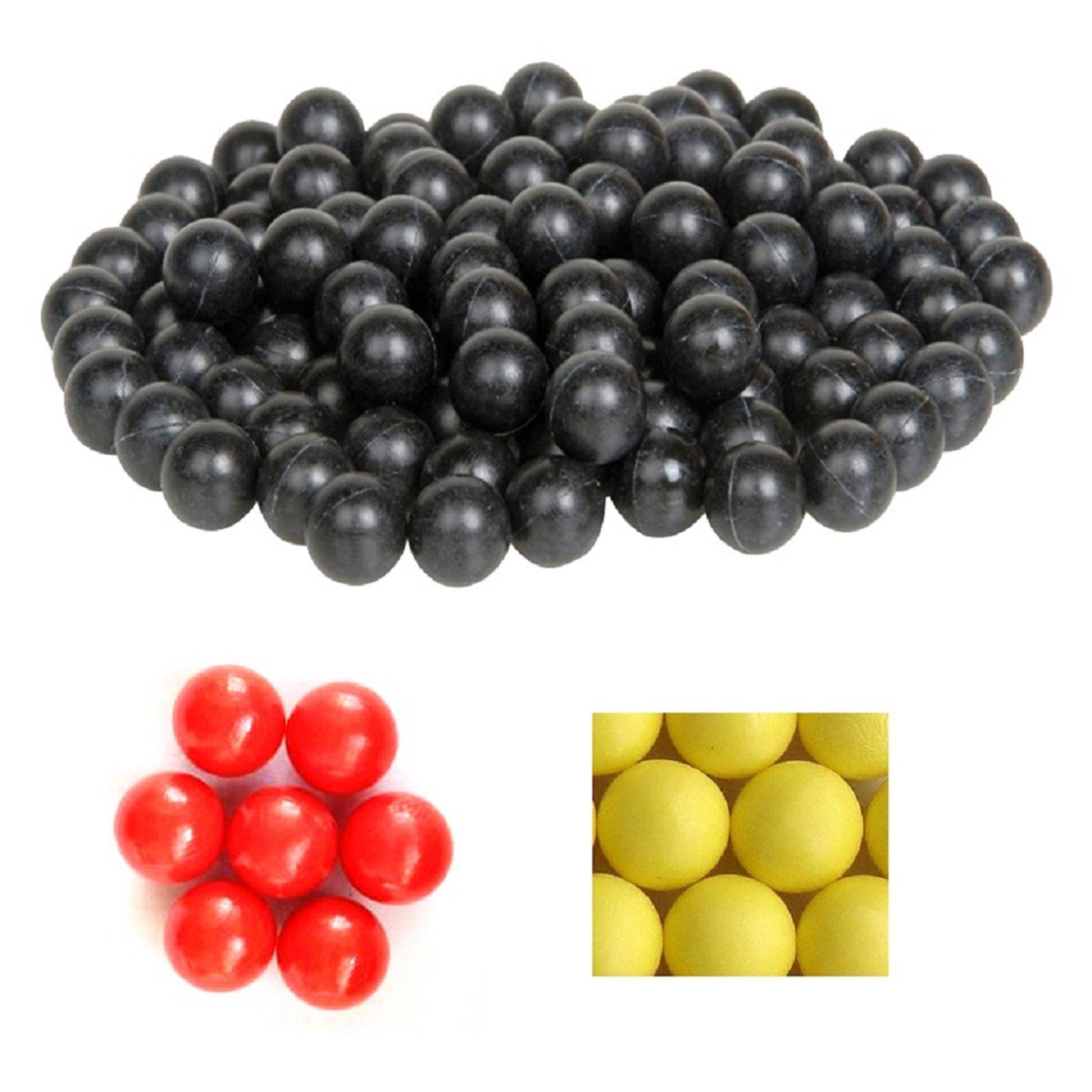 100 X 0.68 Cal. PVC/Nylon Riot Balls Self Defense Less Lethal Practice Paintball