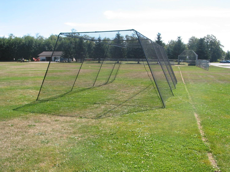 amazon com trapezoid batting cage net sports u0026 outdoors