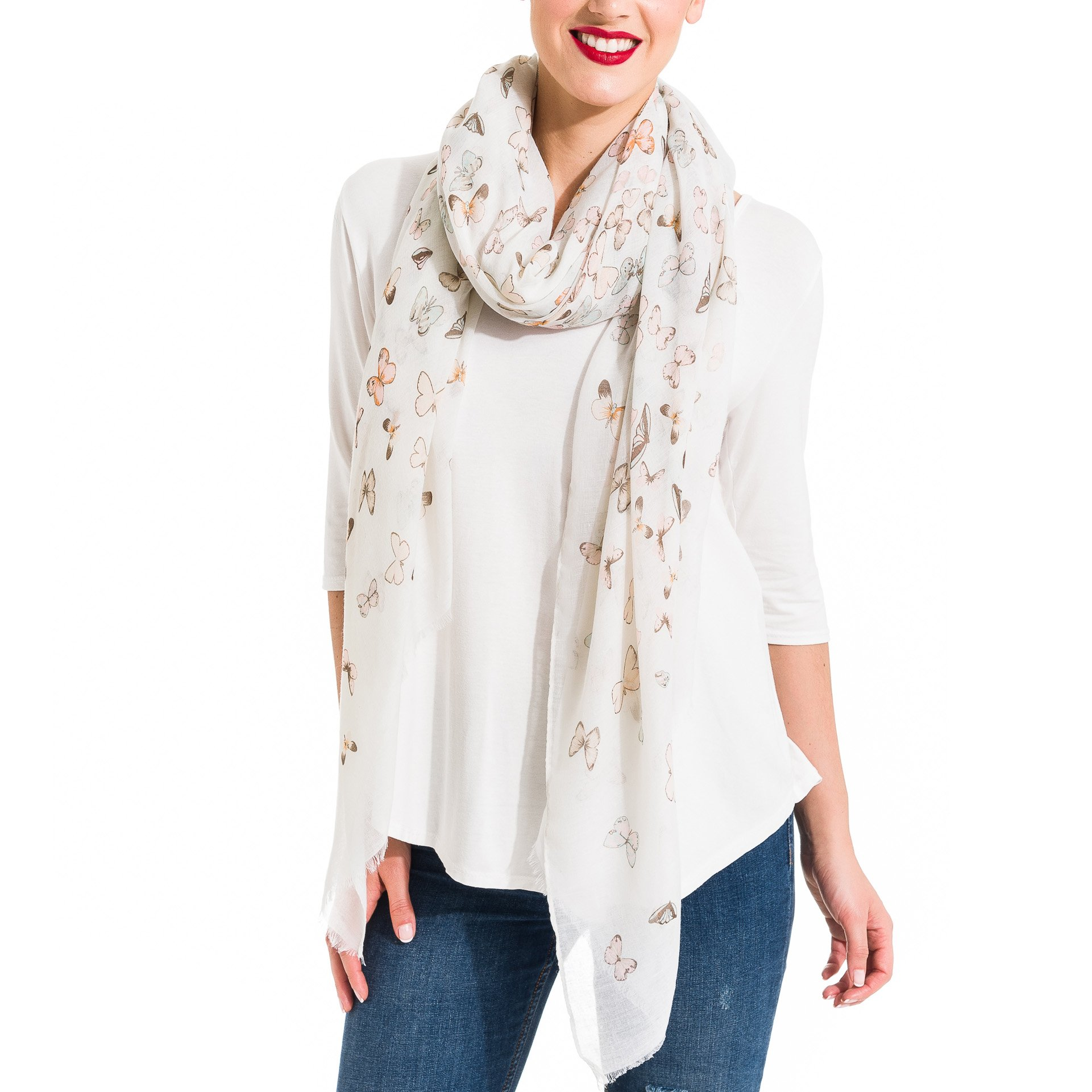 Scarf for Women Lightweight Butterfly Fashion Fall Winter Scarves Shawl Wraps by Melifluos (SS23)