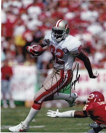 78696cd8e John Taylor Signed Photograph - 8x10 - Autographed NFL Photos at ...