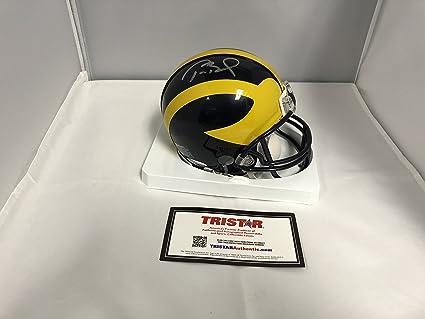 Amazon com: Tom Brady Autographed Signed Michigan Wolverines