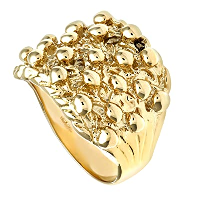 Citerna 9ct Yellow Gold Keeper Ring 8P2wg0a