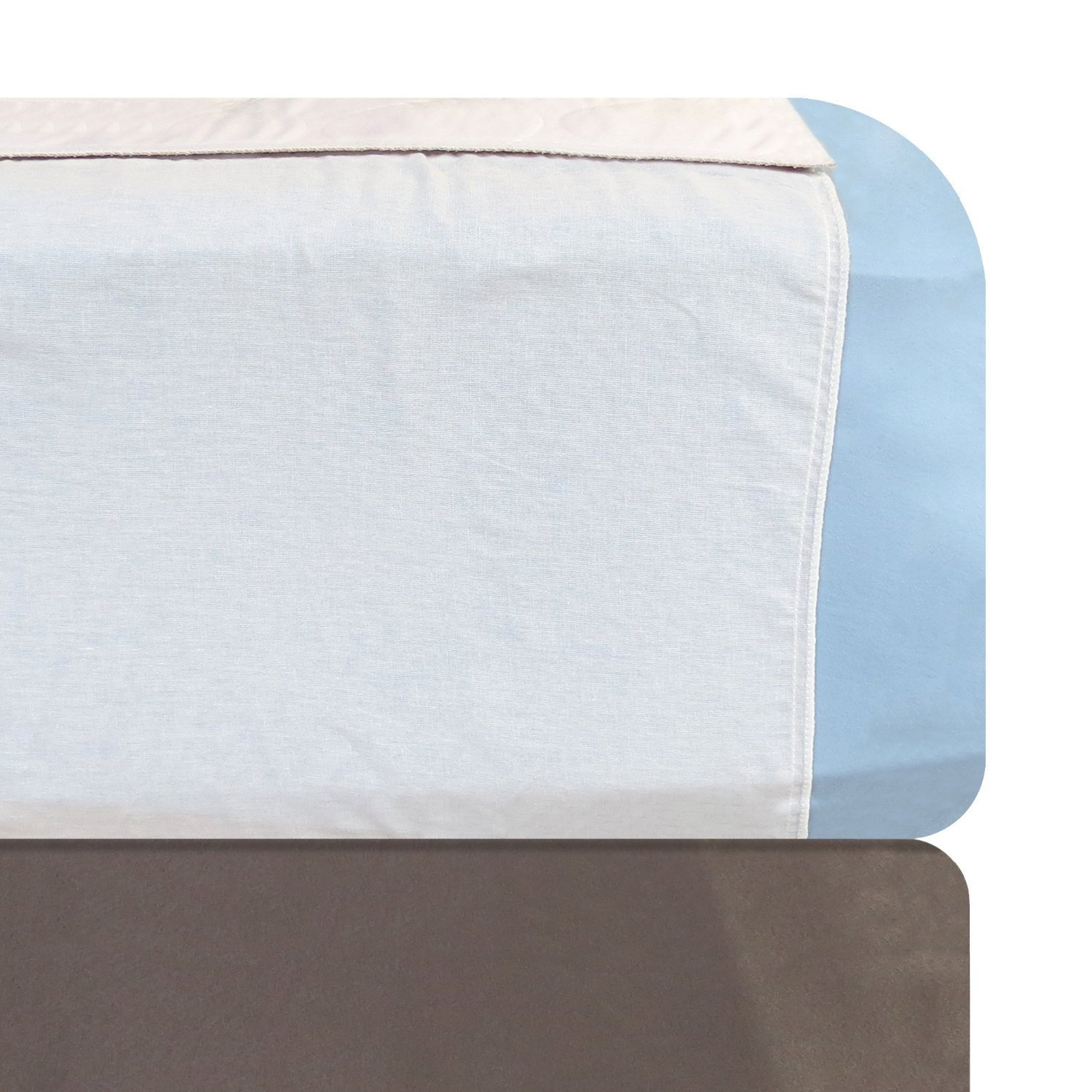 Kleinert's Reusable Draw Sheet for Mattress. Comfort & Super Absorbency with Tuck-Tails Hold Pad in Place. 20'' Tails On Each Side. 3 Layer Pad with Polyester Soaker & Waterproof Bottom. 34'' X 36''