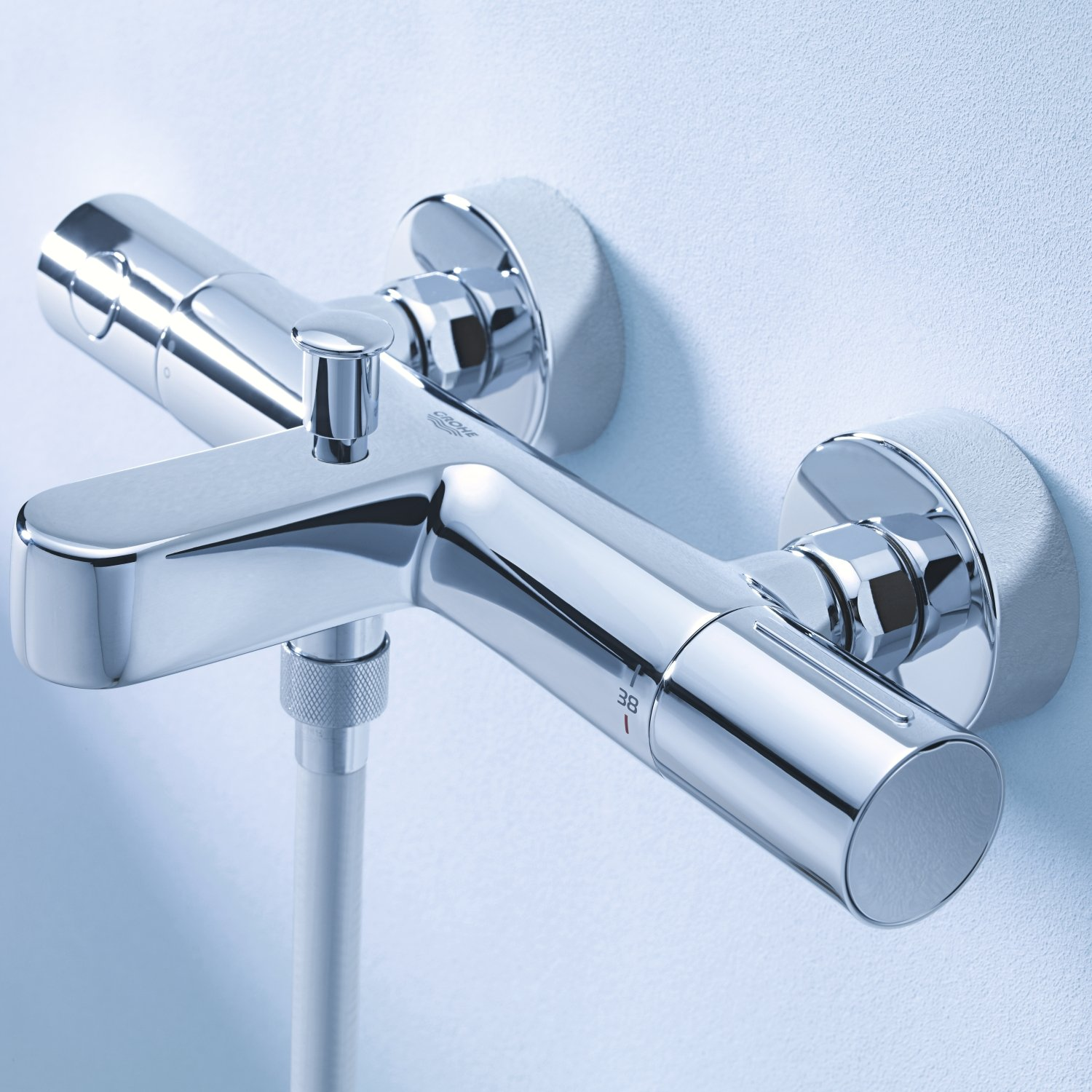 grohe 1000 thermostatic bath shower mixer. grohe 34441002 | grohtherm 1000 cosmopolitan m thermostatic bath/shower mixer: amazon.co.uk: diy \u0026 tools grohe bath shower mixer h
