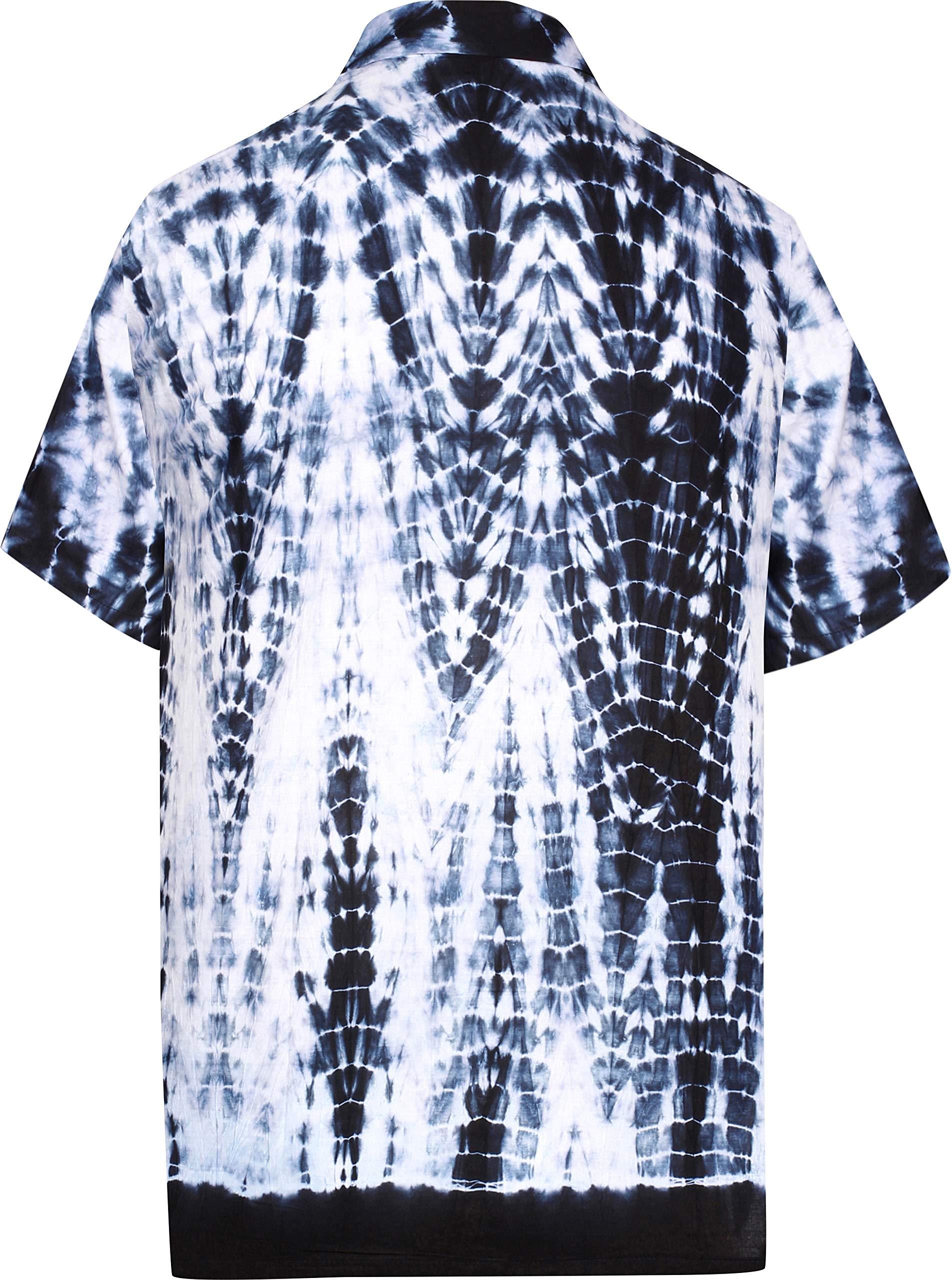 Jofemuho Mens Button Up Short Sleeve Print Stylish Chinese Style Dress Shirts